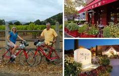 Napa Valley Bike Tours page ... can you get a DUI on a bike? Us Honeymoon Ideas, Vacation Packages, Napa Valley, Anniversary, Tours, Bike, Bicycle, Bicycles