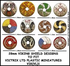 Viking Shield Designs (Little Big Men) Viking Shield Design, Vikings, Medieval, Banner, Viking Art, Anglo Saxon, Tabletop Games, Toy Soldiers, Teaching Art