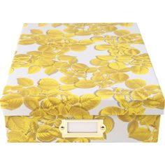 Cynthia Rowley Document Box, Yellow Leaves (43603) | Staples