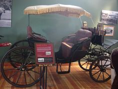 The Sociable Vis-a-Vis was popular with ladies who wanted to go out with their friends for long chats. 'Vis-a-vis' means 'face to face' in French. http://nwcarriagemuseum.org/ history, carriages, victorian, edwardian, 1890's, 1900's.