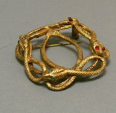 Vintage Snake Brooch Egyptian Revival by jujubee1 on Etsy, $15.00