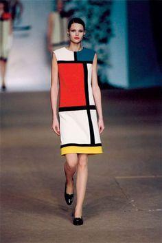 ff37351fa las pasarelas tambien se visten de Piet Mondrian Robe Mondrian
