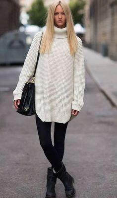 Tendência maxi tricot inverno 2015.