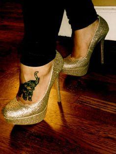 Badass elephant + Badass heels = perfection