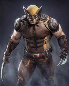 Wolverine é um personagem fictício que aparece em quadrinhos americanos public… Wolverine is a fictional character that appears in American comics published by Marvel Comics, mainly in association with the X-Men. Marvel Wolverine, Logan Wolverine, Marvel Dc Comics, Marvel Heroes, Marvel Comic Character, Marvel Characters, Marvel Concept Art, American Comics, Hawkeye