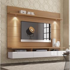 Julius Entertainment Center for TVs up to unit Design Julius Floating Entertainment Center for TVs up to 60 inches Tv Wall Design, Cabinet Design, Tv Room Design, Living Room Design Modern, Living Room Tv Unit Designs, Tv Cabinet Design, Wall Unit, Living Room Designs, Living Room Tv