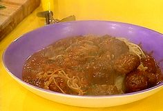 Spaghetti and Meatballs recipe from Rachael Ray via Food Network