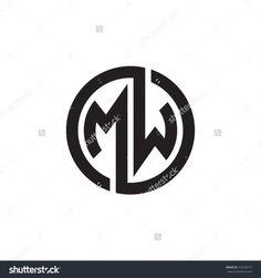 MW initial letters looping linked circle monogram logo Logo D'art, Typography Logo, Art Logo, Monogram Design, Monogram Logo, Circle Monogram, Web Design, Graphic Design, Logo Monogramme