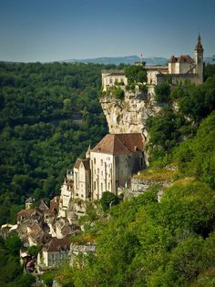 Rocamadour in France is one of the most stunning cliff side towns.