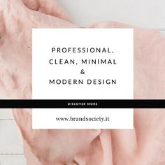 Professional, Clean, Minimal & Modern Design - Discover more at www.brandsociety.it or at my Esty Shop BRANDSOCIET #professionaldesigner #cleandesign #minimal #minimalista #minimalove #minimaldesign #moderndesign #logodesign #customdesign #customwebsite #rosequartz #designstudio #branding #graphicdesigner
