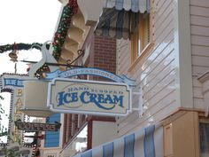 Ice Cream Sign in Disneyland
