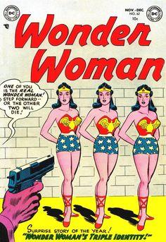 Wonder Woman #62, December 1953, cover by Irwin Hasen and Bernard Sachs