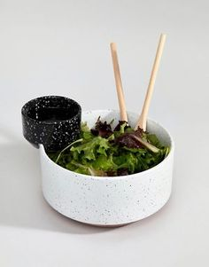 Doiy Serving Bowl With Dip Dish