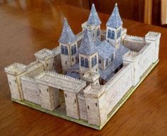 The Medieval Castle Paper Model - Assembled by Mike Sanderson created by Papermau