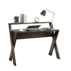 We bought this desk for me to work at home on and I love it!  I love the modern look and the size of it. It's one of my favorite places to sit at the house now!  Convenience Concepts 125707 Modern Newport Desk with Shelf