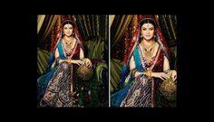 Los diseños de los vestidos son de los más exóticos, pero tradicionales en India. Foto: Pinterest)