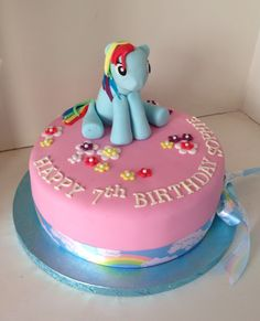 My Little Pony, Rainbow Dash birthday cake by Boutique Bakehouse www.boutiquebakehouse.co.uk