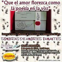 Recuerda, el sábado es la 2da presentación de #SombrasdeAmoresyAmantes, #CaféBarAlbanta, 16:30 $120 #libro+cerveza