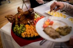 The Chicken and Pig Buffet seems to be a favorite for our customers who are looking for a no-fuss, delicious catering menu that makes everyone happy. Catering Menu, Wedding Catering, Delicious Catering, Wedding Cake Alternatives, Pig Roast, Rustic Wedding, Trendy Wedding, Wedding Ideas, Hawaiian Luau