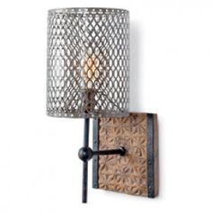Artifact Sconce with Pierce Shade