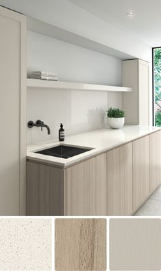 White Scheme 5 – Coastal palette - Laminex * like the colour scheme * Laundry Room Design, Laundry In Bathroom, Kitchen Design, Kitchen Modern, Modern Laundry Rooms, Bathroom Sinks, Remodel Bathroom, Budget Bathroom, Minimalist Kitchen