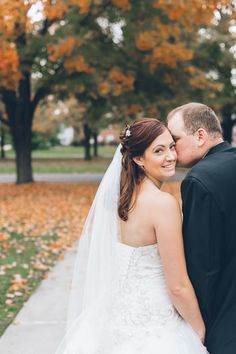 Gorgeous fall colors. | Ben Lau Photography | Kenneth Winston Style 1462 #kennethwinston #realbride