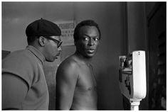 Photo Baron Wolman, Miles Davis at Gleason's, Gleason's Gym, New York City, 1969