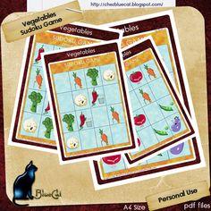 ♥ • ❁ • BlueCat et ses cartes • ❁ • ♥ http://carteschezbluecat.blogspot.fr/2013/07/vegetables-sudoku-game-free.html