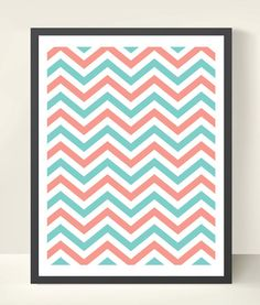 Chevron wall art is always a hit. Great way to bring chevron into a room but without permanence!