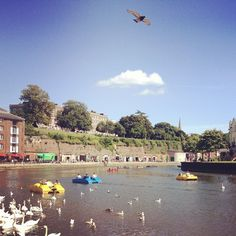 Exeter Quay - watching the DWS climbing & doing lunch!