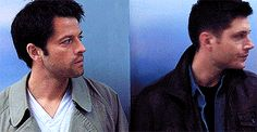 #spn #destiel Look how they lock their gazes<< they look like they're about to kiss