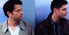 #spn #destiel Look how they lock their gazes