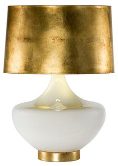 Arden Table Lamp, White/Gold - when in doubt add luxe and shine ♥
