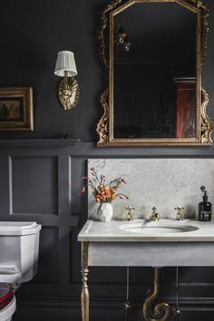 House of Brinson One Room Challenge Bathroom 3 Modern Small Bathroom Ideas - Great Bathroom Renovati Bathroom Interior Design, Decor Interior Design, Interior Decorating, Interior Office, Modern Interior, Interior Architecture, Bad Inspiration, Bathroom Inspiration, White Bathroom