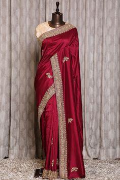 Indian Bridal Fashion, Indian Fashion Dresses, Dress Indian Style, Indian Designer Outfits, Indian Silk Sarees, Tussar Silk Saree, Chiffon Saree, Sarees For Girls, Designer Sarees Wedding