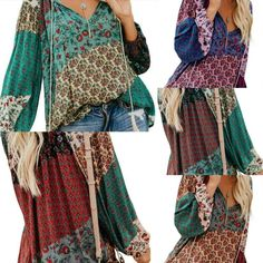 Bohemian Deep V Long Sleeve Top  Deep, Sexy V-Neck  Long Sleeves for Cooler Days Cotton Stretch Blend Vintage Hippie  Come and Visit our site: workingwhatnot.com/ Vintage Hippie, Long Sleeve Tops, Bohemian, V Neck, Deep, Sleeves, Cotton, Collection, Fashion