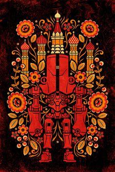 "Jon Reinfurt ""Cherno Flora"" Framed Print"