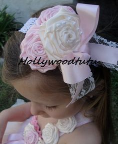 baby girl headbandbaby headbandvintage baby by Hollywoodtutu, $16.50