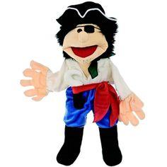Peer de piraat, nieuw bij ons, van Living Puppets. Superdeluxe handpoppen.