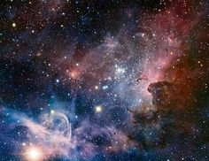 Carina Nebula found in the southern Milky Way from a very large telecope in Chili