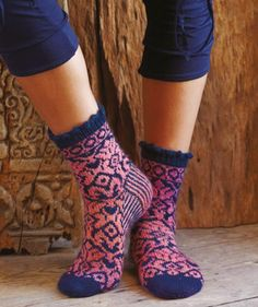 Socks with Jacquard Pattern for ladies, R0007 Free Pattern from http://us.schachenmayr.com/