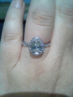 My gorgeous engagement ring. Custom made just for me. America's diamond.