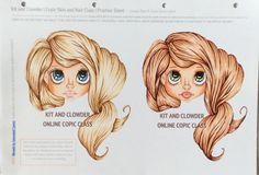 hair 1 is E25, 29, 51, 55 hair 2 is E11, 13, 15, 18