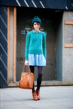 Sweater And Skirt Combinations 9 Cute Skirt and Sweater Street Style Combinations Winter Typ, Winter Blue, Love Fashion, Womens Fashion, Cute Skirts, Skinny, Inspired Outfits, A Boutique, Get Dressed