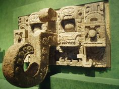 Chac Mask Piece of wall decoration in the form of the heavily stylized mask of the Mayan rain god Chac, with his huge hooked nose. This sculpture comes from the site of Kabah in Yucatan, we were later to see many more not far away at Uxmal.