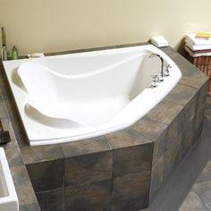MAAX - Velvet 6054 White Acrylic Corner Soaker Tub - 102745-000-001-000 - Home Depot Canada