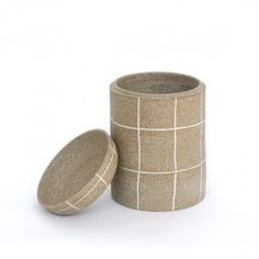 Workaday Handmade Tall Etched Ceramic Jar