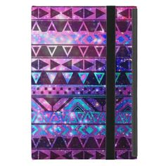 Girly Andes Aztec Pattern Pink Teal Nebula Galaxy Cases For iPad Mini