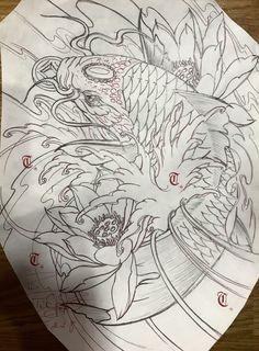Japanese Koi Fish Tattoo, C Tattoo, Tattoo Studio, Fish Tattoos, Vip, Tattoo Ideas, Oriental, Tattoos, Ideas