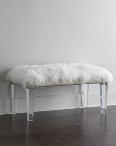 how about this for dressing room? keep fur Alala+Sheepskin+Bench+by+Massoud+at+Horchow.